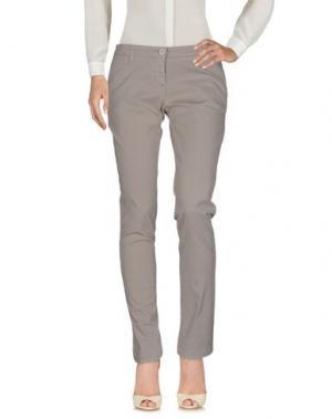 Повседневные брюки UZÈS. Цвет: светло-серый