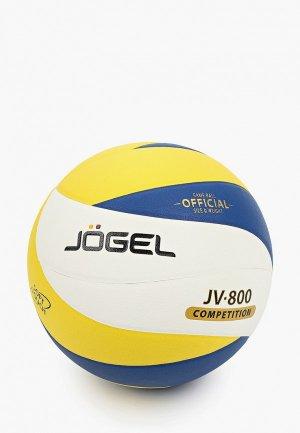 Мяч волейбольный Jogel. Цвет: разноцветный