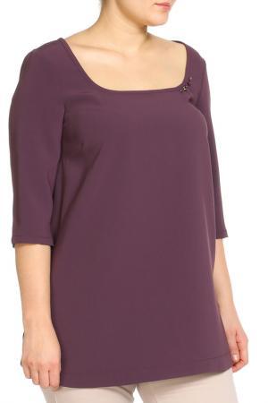 Рубашка-блузка Elena Miro. Цвет: фиолетовый