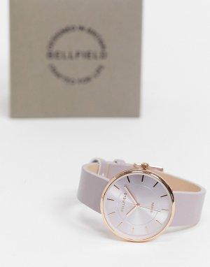 Часы цвета розового золота с пурпурным оттенком -Серый Bellfield