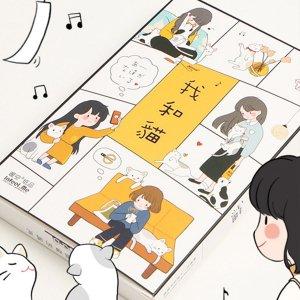 Открытка с изображением мультфильма и кошки 30 листов SHEIN. Цвет: многоцветный