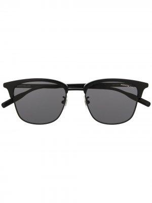 Солнцезащитные очки в оправе кошачий глаз Montblanc. Цвет: черный
