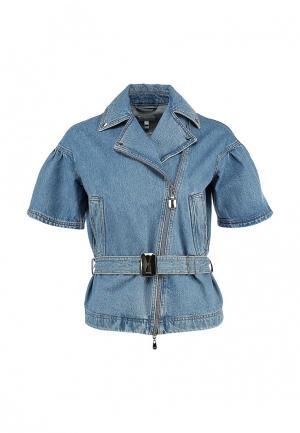 Куртка джинсовая Escada Sport. Цвет: голубой