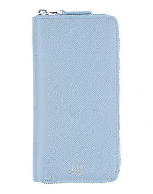 Бумажник DUNHILL. Цвет: небесно-голубой