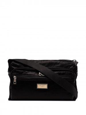 DG MESSENGER NYLON SAMBOIL BAG Dolce & Gabbana. Цвет: черный