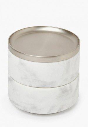 Шкатулка для украшений Umbra Tesora. Цвет: белый