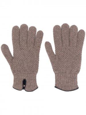 Перчатки аранской вязки Lady Anne. Цвет: коричневый