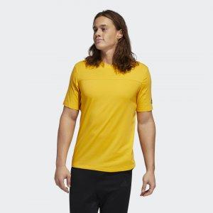 Футболка для фитнеса City Base Performance adidas. Цвет: золотой