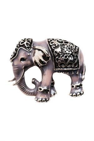 Брошь Королевский слон FRANSUA ARDY. Цвет: серый