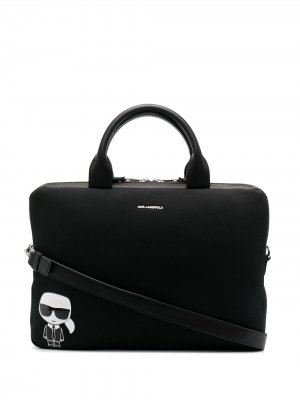 Сумка для ноутбука K/Ikonik Karl Lagerfeld. Цвет: черный
