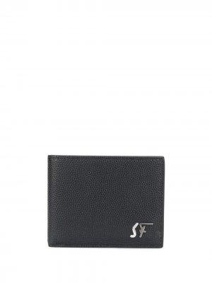Бумажник с логотипом Salvatore Ferragamo. Цвет: черный
