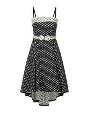 Платье до колена CLIPS MORE. Цвет: черный