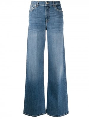 Расклешенные джинсы Lotta Soho 7 For All Mankind. Цвет: синий