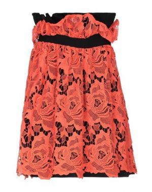 Мини-юбка LORELLA SIGNORINO. Цвет: оранжевый