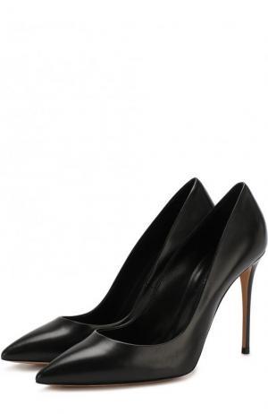 Кожаные туфли на шпильке Casadei. Цвет: черный