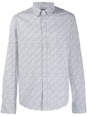 Рубашка с геометричным принтом Michael Kors. Цвет: белый