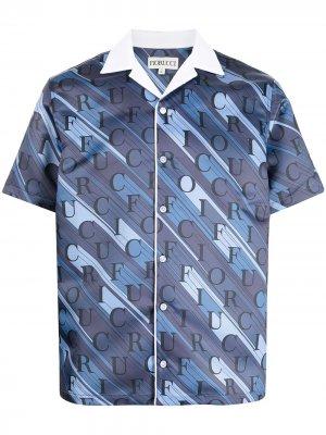 Рубашка с монограммой Fiorucci. Цвет: синий