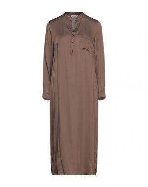 Платье длиной 3/4 DIXIE. Цвет: коричневый