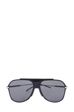Очки в пластиковой оправе авиатор черного цвета с тонкими стеклами DIOR (sunglasses) men. Цвет: черный