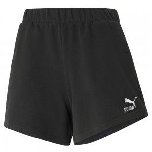 Шорты Classics High Waist Womens Shorts PUMA. Цвет: черный