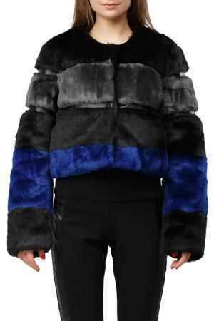 Полушубок Silvian Heach. Цвет: black blue
