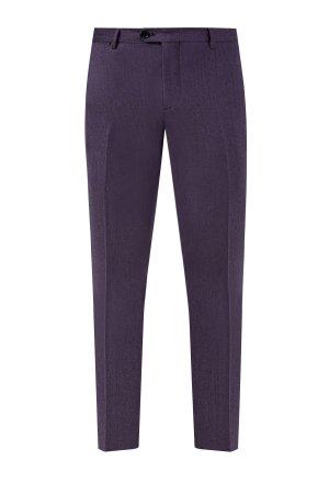 Классические брюки из шерстяной фланели ETRO. Цвет: фиолетовый