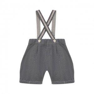 Хлопковые шорты Aletta. Цвет: синий