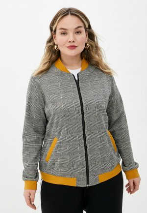Олимпийка Adele Fashion. Цвет: серый