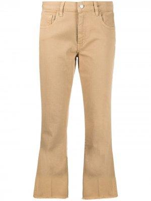 Укороченные расклешенные джинсы Fay. Цвет: нейтральные цвета