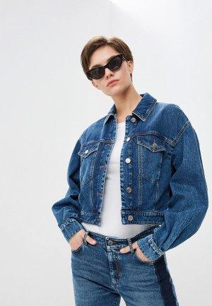 Куртка джинсовая Sportmax Code. Цвет: синий