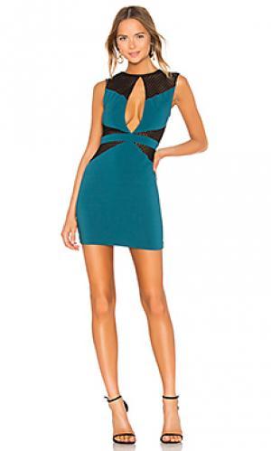 Платье миди erica Michael Costello. Цвет: синий