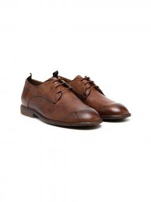 Туфли на шнуровке Gallucci Kids. Цвет: коричневый