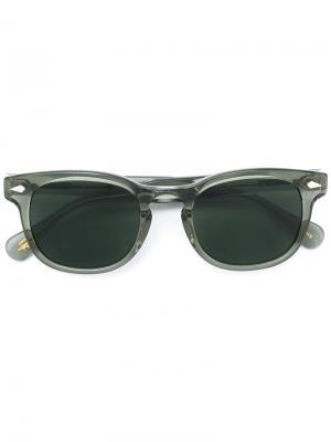 Солнцезащитные очки Gelt Moscot. Цвет: зелёный