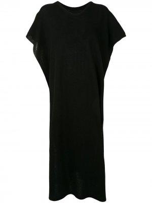 Длинный свитер-кейп Atm Anthony Thomas Melillo. Цвет: черный