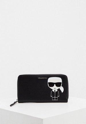 Кошелек Karl Lagerfeld IKONIK. Цвет: черный