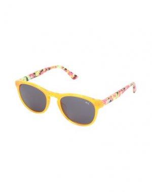 Солнечные очки PUMA. Цвет: оранжевый