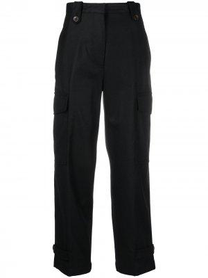 Укороченные брюки карго с завышенной талией Pt01. Цвет: черный