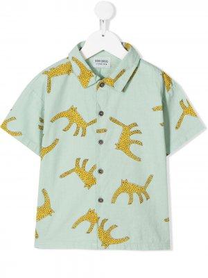 Рубашка с леопардовым принтом Bobo Choses. Цвет: зеленый