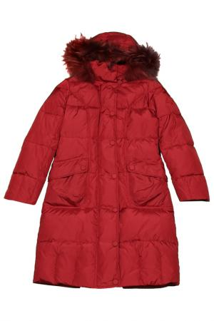 Пальто стёганное Lawine. Цвет: красный