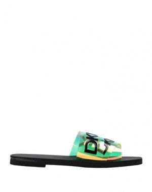 Сандалии DKNY. Цвет: зеленый