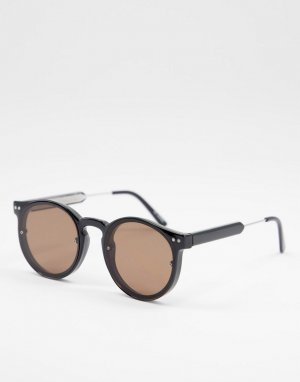 Черные круглые солнцезащитные очки в стиле унисекс Post Punk-Черный Spitfire