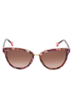 Солнцезащитные очки Carolina Herrera. Цвет: мультицвет, серый