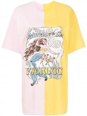 Футболка Princess Of Sea Fiorucci. Цвет: розовый