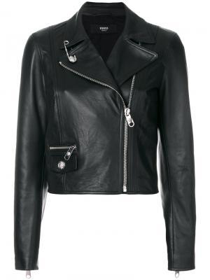 Zip up biker jacket Versus. Цвет: чёрный