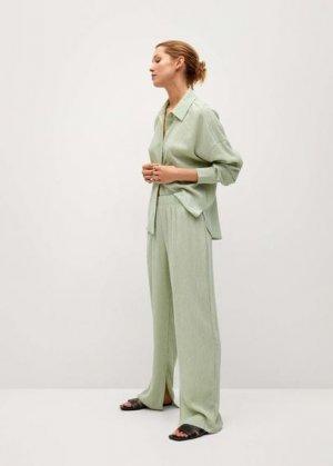 Прямые брюки из лиоцелла - Felipe Mango. Цвет: пастельно-зеленый