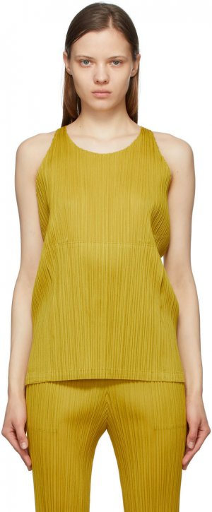 Yellow Monthly Colors May Tank Top Pleats Please Issey Miyake. Цвет: 55-ocher