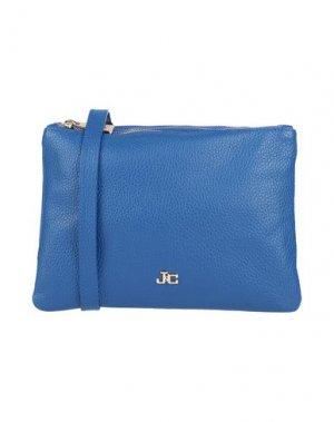 Сумка на руку J&C JACKYCELINE. Цвет: синий