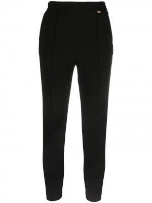 Cropped slim-cut trousers Elisabetta Franchi. Цвет: черный