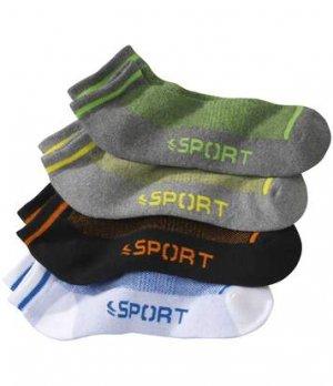 Комплект Коротких Спортивных Носков — 4 пары Atlas For Men. Цвет: белый