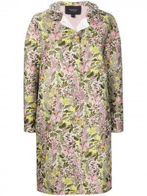 Пальто с цветочной вышивкой Giambattista Valli. Цвет: белый
